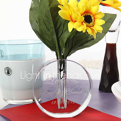 Table centerpieces personalized crystal round vase