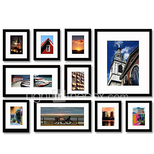 Picture frames modern contemporary rectangular wood 10 for Modern collage frame