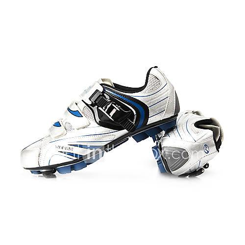 ciclismo mtb scarpe spd con fibra di vetro suola e tomaia in pelle pu