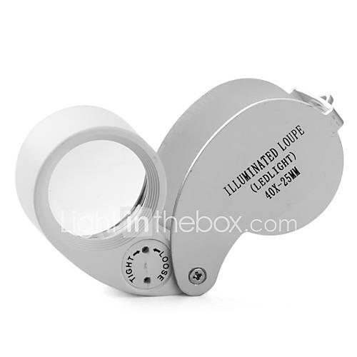 mini-40x 25mm joyas lupa lupa con LED Lightinthebox por 3.91€