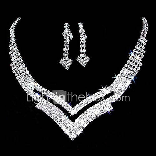 rhinestone hermosa pieza recorte dos ''v'' damas ''joyas de diseño conjunto (45 cm) Descuento en Lightinthebox