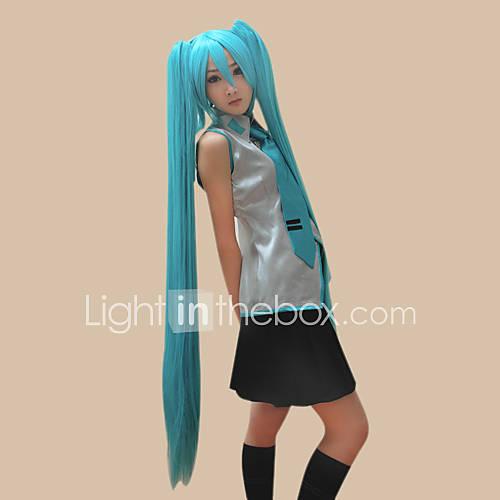 hatsune vocaloid miku 2 colas de caballo peluca cosplay Descuento en Lightinthebox