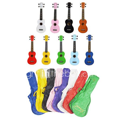 yadars basswood soprano ukulele with gig bag multi color 281107 2016 4. Black Bedroom Furniture Sets. Home Design Ideas