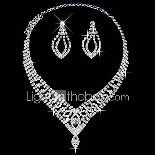 collar elegante señoras maravillosas y pendientes establecidas joyas (45 cm) Descuento en Lightinthebox