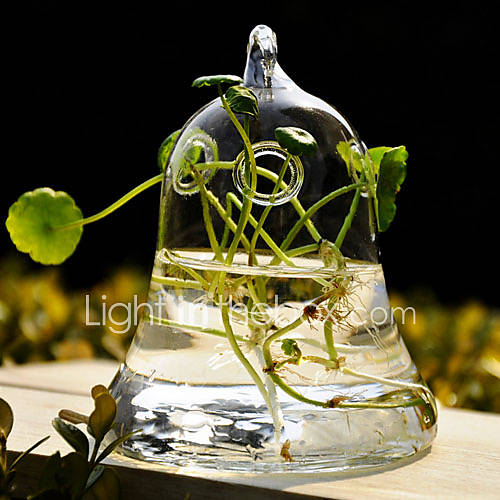 Table centerpieces bell design clear glass vase