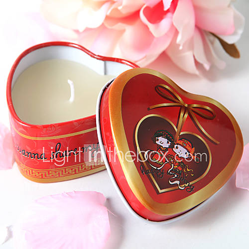 Heart Shaped Tin Candle Favor