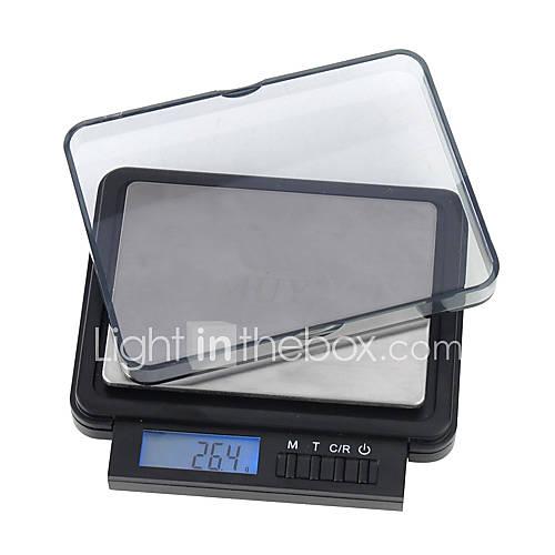 2000g/0.01g professionale mini bilancia digitale tascabile