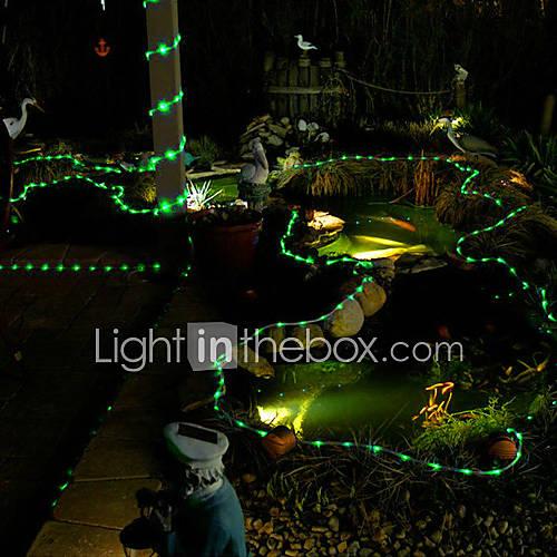 100 led verde del tubo solare esterna luci da giardino ...
