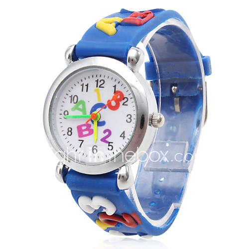 Niño Reloj de Moda Cuarzo Silicona Banda Caricaturas Azul Marca- Descuento en Lightinthebox