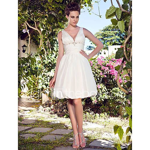 Lanting bride a line petite plus sizes wedding dress for Plus size dress for wedding reception