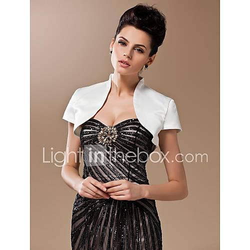 Wedding Wraps Shrugs Short Sleeve Silk Ivory Wedding 24cm