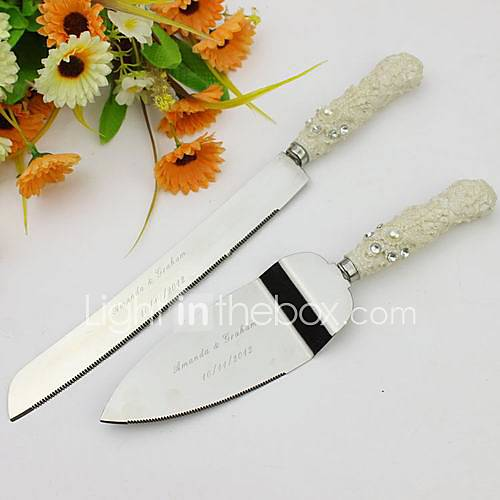 serving sets wedding cake knife personalized elegant cake serving set