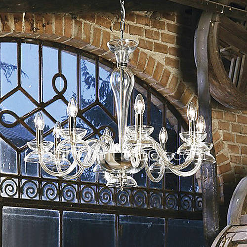 Dining Room Chandeliers Traditional Crystals: Max 60W Chandelier , Traditional/Classic Electroplated