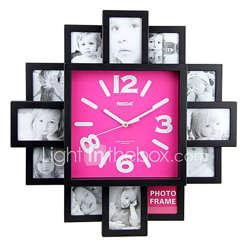 Reloj de pared con dise o de moda funci n de marco de foto - Diseno de paredes ...