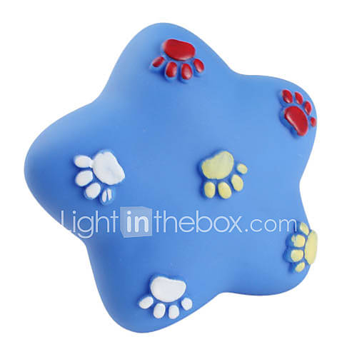 empreinte Pentastar jouet en caoutchouc pour chiens grincement (9 x 9cm)