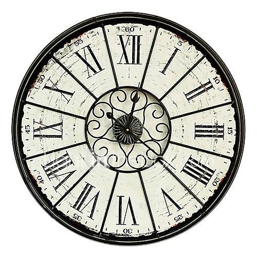 23 quadrante h orologio vintage design da parete in for Orologio da parete radiocontrollato