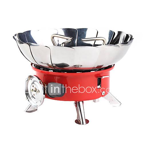 coupe-vent cuisinière à gaz de camping avec une résolution max. capacité de charge 20kg/6000btu/100g/hr (15x12x15cm)