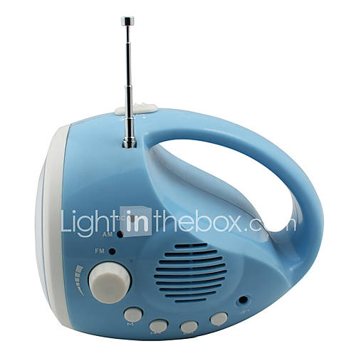 3 modes de camping torche 12 LED avec la radio (dynamo / USB, bleu)