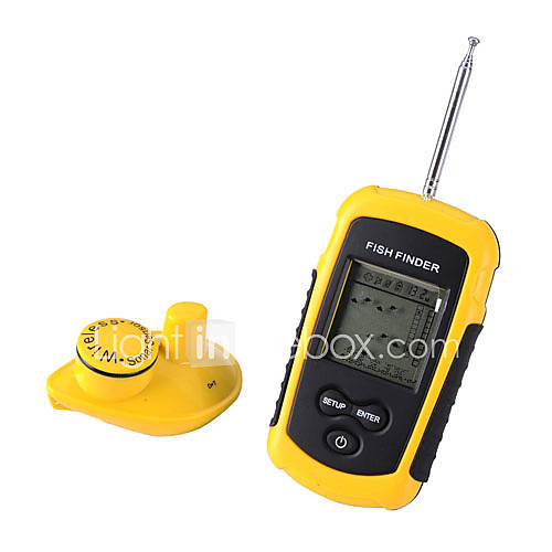 Lucky Wireless Mode Portable LCD Fish Finder 373911 2016