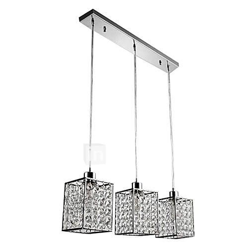 Moderne lampade pendenti di cristallo con 3 luci in tonalità cubi del 392960 ...