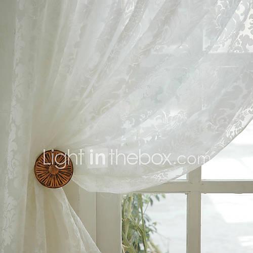 deux panneaux le traitement de fen tre rustique salle manger polyester mat riel sheer rideaux. Black Bedroom Furniture Sets. Home Design Ideas