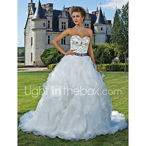 Timeless Wedding Gown: Lanting Bride® Ball Gown Petite / Plus Sizes Wedding Dress