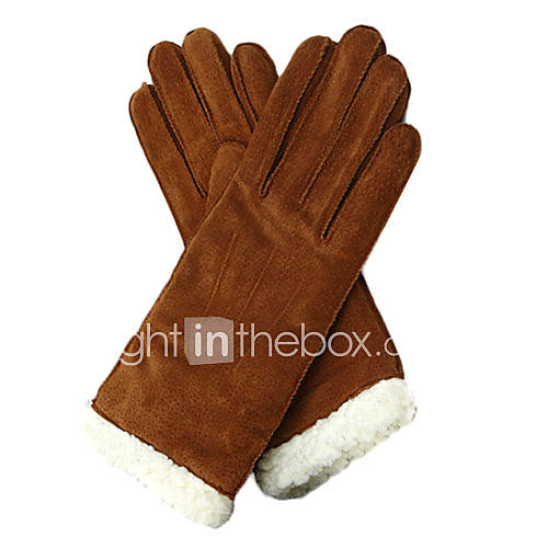 guantes de cuero de vaca bonitos dedos de pulsera de moda