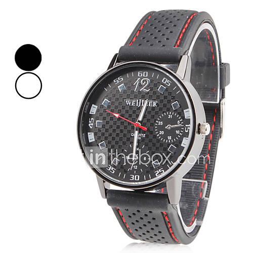 Hombre Reloj de Pulsera Cuarzo Japonés Cuarzo Silicona Banda Negro