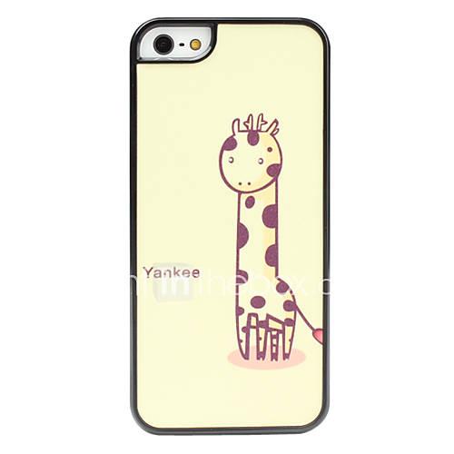 girafe étui rigide de la surface givrée de modèle pour l'iphone 5/5s
