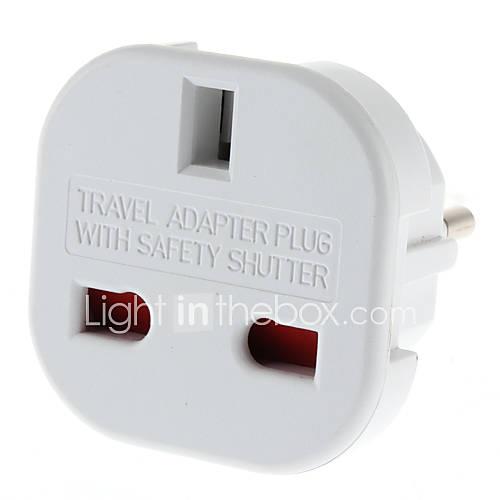 EU Plug Universal Plug Adapter multiples voyages ronde avec obturateur de sécurité (110-240V)