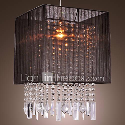 Stylish pendant light with black fabric shade 189823 2017 - Como hacer lamparas de techo artesanales ...