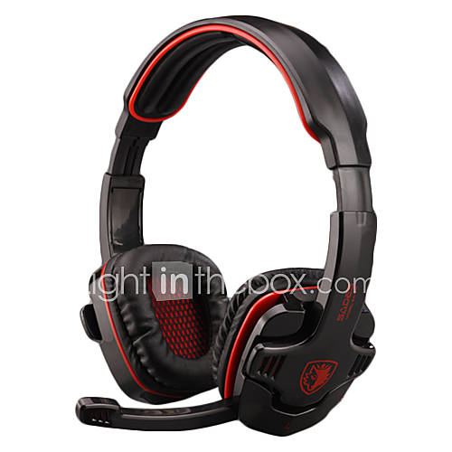 casque gaming sades sa 901 pour pc avec micro de 475042. Black Bedroom Furniture Sets. Home Design Ideas