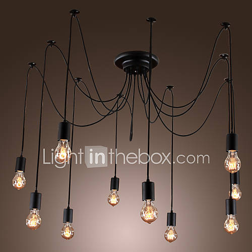 lampadari artistici disegno luci con 10 lampadine tipo luci pendenti ...