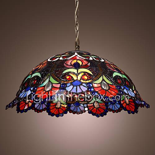 WAREHAM - Lampadario stile tiffany con 2 lampadine del ...