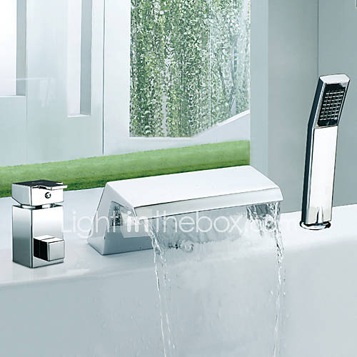 Contemporary Roman Tub Waterfall Widespread With Ceramic