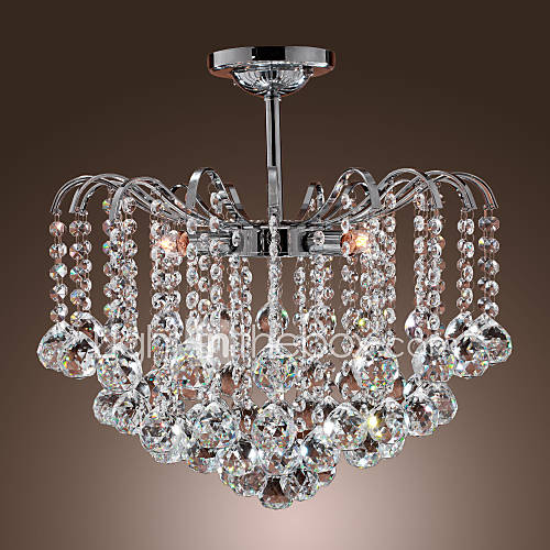 Painting Dining Room Chandelier: Max 40W Modern/Contemporary Crystal Painting Metal