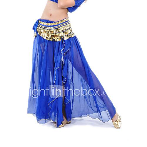 Women Chiffon Belly Dance Performance Skirt Descuento en Lightinthebox