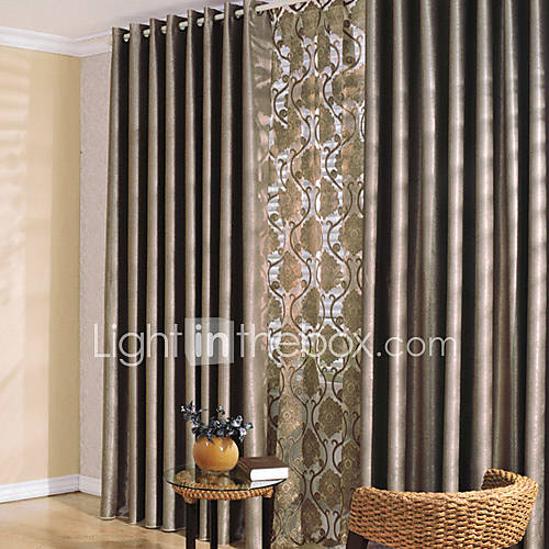 two panels curtain modern bedroom polyester material blackout curtains