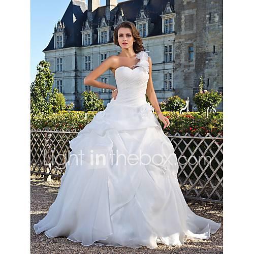 Lanting Bride® Ball Gown Petite / Plus Sizes Wedding Dress