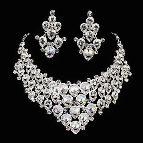 Conjunto de joyas De mujeres Aniversario / Pedida / Cumpleaños / Regalo / Fiesta Sets de Joya Aleación Diamantes SintéticosCollares / Descuento en Lightinthebox