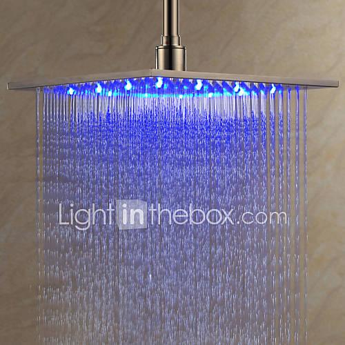 12 zoll edelstahl duschkopf mit farbwechsel led licht. Black Bedroom Furniture Sets. Home Design Ideas