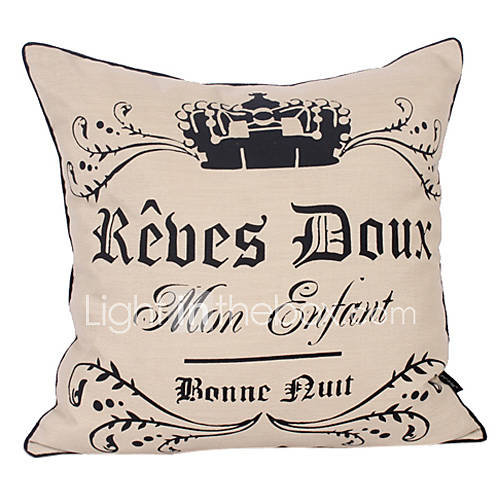 Decorative Throw Pillows With Words : Modern Words Cotton Decorative Pillow Cover 533694 2017 ? $14.99