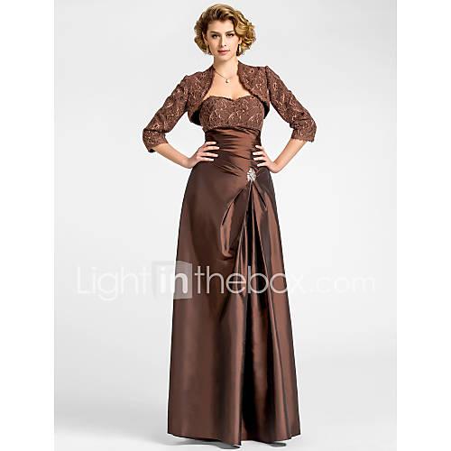 FELICITY - Robe de Mère de Mariée Taffetas Dentelle - Châle Inclus