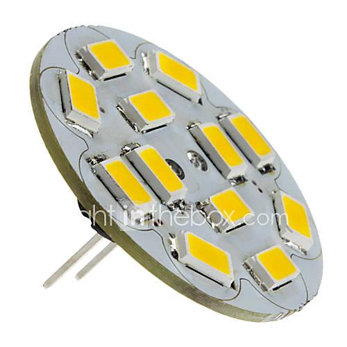 1.5w g4 led proyector 12 smd 5730 130-150 lm blanco caliente dc 12 v