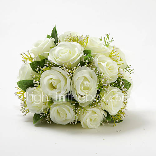 satinado elegante forma redonda boda ramo Descuento en Lightinthebox