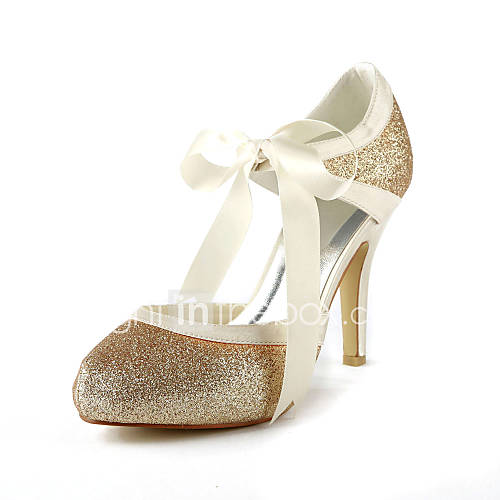 satin stiletto heel pumps with sparkling glitter wedding shoes more