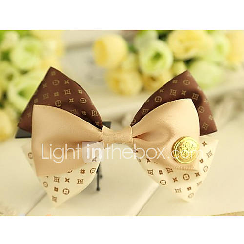 Femmes Bow Tie main Layered Dot cheveux