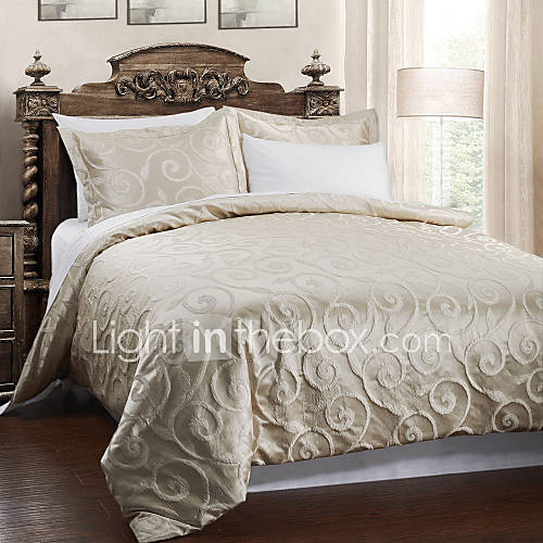 5 piece beige cloud jacquard duvet cover set 553199 2017 - Fundas nordicas jacquard ...