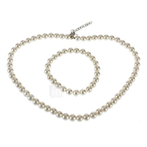 Set collier de perles bracelet