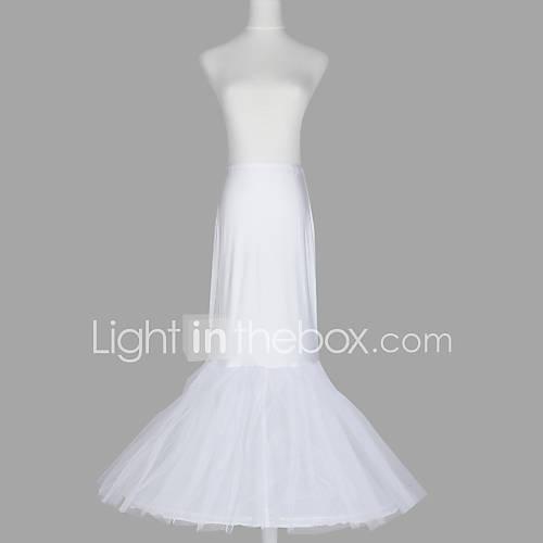 nylon sirena y la trompeta vestido 2 hasta el suelo antideslizante estilo / de la boda enaguas nivel Descuento en Lightinthebox